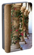 Pink Peacock Colored Bougainvillea Blossoms Climbing Pillars Photograph By Colleen Portable Battery Charger