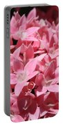 Pink Pentas Beauties Portable Battery Charger