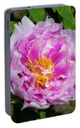 Pink Peony Blossom Portable Battery Charger