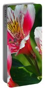 Pink Peruvian Lily 2 Portable Battery Charger