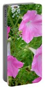Pink Petunia Flower 9 Portable Battery Charger