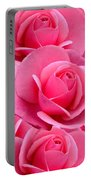 Pink Pink Roses Portable Battery Charger
