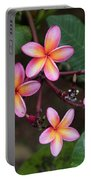 Pink Plumeria Portable Battery Charger