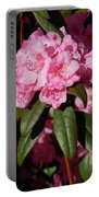 Pink Rhododendron Portable Battery Charger