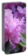 Light Purple Rhododendron With Leaves Portable Battery Charger