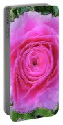 Pink Rose #064 Portable Battery Charger