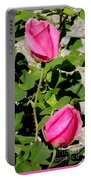 Pink Rose Buds Portable Battery Charger