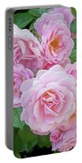 Pink Rose Cluster II Portable Battery Charger