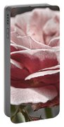 Pink Rose Faded Portable Battery Charger
