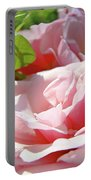 Pink Rose Flower Garden Art Prints Pastel Pink Roses Baslee Troutman Portable Battery Charger