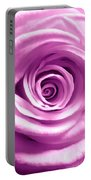 Pink Rose Macro Hdr Portable Battery Charger