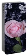 Pink Rose Of Imperfection Portable Battery Charger