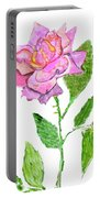 Pink Rose, Painting Portable Battery Charger