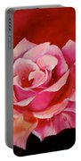 Pink Rose With Dew Drops Jenny Lee Discount Portable Battery Charger