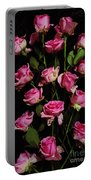 Pink Roses 1 Portable Battery Charger