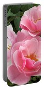 Pink Roses 2 Portable Battery Charger