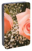 Pink Roses Fine Art Photography Print Portable Battery Charger