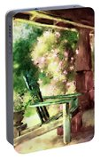 Pink Roses On The Porch Portable Battery Charger