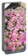 Pink Roses Photograph Portable Battery Charger