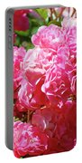 Pink Roses Summer Rose Garden Roses Giclee Art Prints Baslee Troutman Portable Battery Charger
