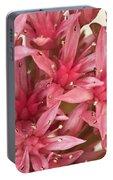 Pink Sedum Flower Macro Portable Battery Charger