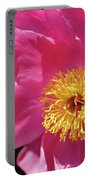 Pink Single Peony Portable Battery Charger