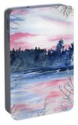 Pink Sky Reflections Portable Battery Charger