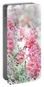 Pink Snapdragons Watercolor Portable Battery Charger