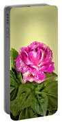 Pink Speckled Rose 1 Portable Battery Charger