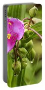 Pink Spiderwort Drip Drops Portable Battery Charger