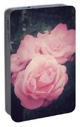 Pink Summer Roses Portable Battery Charger