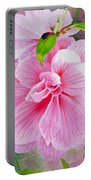 Pink Swirl Garden Portable Battery Charger by Shelley Irish