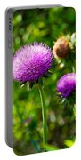 Pink Thistle Study 1 Portable Battery Charger