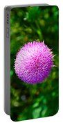 Pink Thistle Study 2 Portable Battery Charger