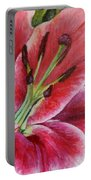 Pink Tiger Lily Portable Battery Charger