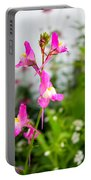 Pink Toadflax Portable Battery Charger