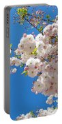 Pink Tree Blossoms Art Prints 55 Spring Flowers Blue Sky Landscape  Portable Battery Charger
