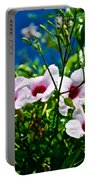 Pink Trumpet Flowers In Pilgrim Place In Claremont-california Portable Battery Charger