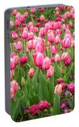 Pink Tulips At Floriade In Canberra, Australia Portable Battery Charger