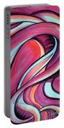 Pink Wave Of Energy. Abstract Vision Portable Battery Charger