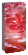 Pink White Roses Floral Art Prints Rose Baslee Troutman Portable Battery Charger