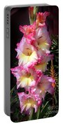 Pink-white-yellow Gladiolus Portable Battery Charger
