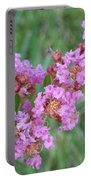 Pinkish Red Flower Bloom Close Up Portable Battery Charger