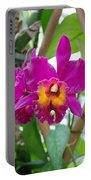 Pinkishyellow Orchid Portable Battery Charger