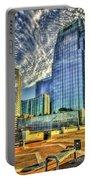 Pinnacle Building Sunset Nashville Shadows Nashville Tennessee Art Portable Battery Charger