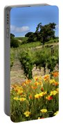 Pinot Noir And Poppies Portable Battery Charger