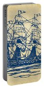 Pirate Ship Artwork - Vintage Portable Battery Charger