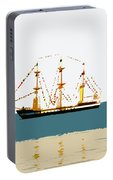 Pirate Ship On The Horizon Portable Battery Charger
