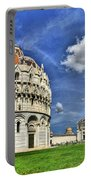 Pisa - Baptistry Duomo And Leaning Tower Portable Battery Charger
