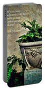 Pissarro Inspirational Quote Portable Battery Charger